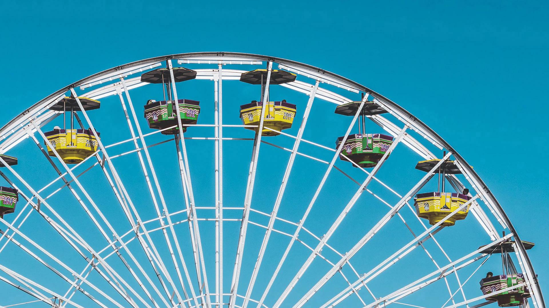 summertime ferris wheel